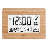 FanJu цифровые настенные часы lcd большие количество времени температура календарь будильник настольные часы Современный дизайн домашний офи...