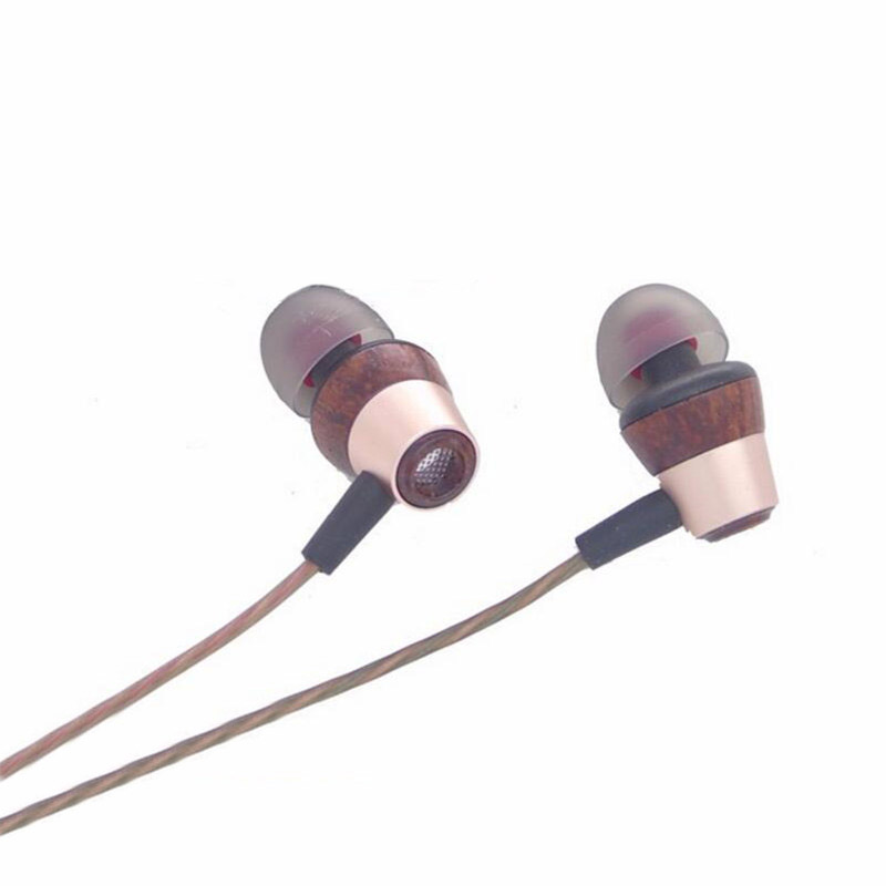Balanced Armature With Dynamic Hybrid In-ear Earphone Wood Diy Ear buds HIFI Professional Earphones With Microphone original kinera bd005 in ear earphone monitor dynamic with 1 ba hybrid headset hifi diy earbuds microphone free ship