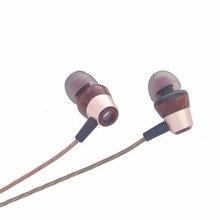 Balanced Armature With Dynamic Hybrid In-ear Earphone Wood Diy Ear buds HIFI Professional Earphones With Microphone