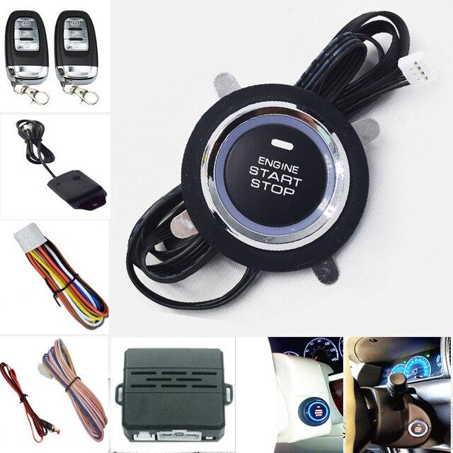 257ec286 Sistema de alarma de Coche Smart Remote Key Push One Button motor inicio  alarma de vibración