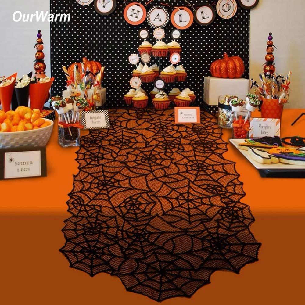 Black Halloween Table Runner