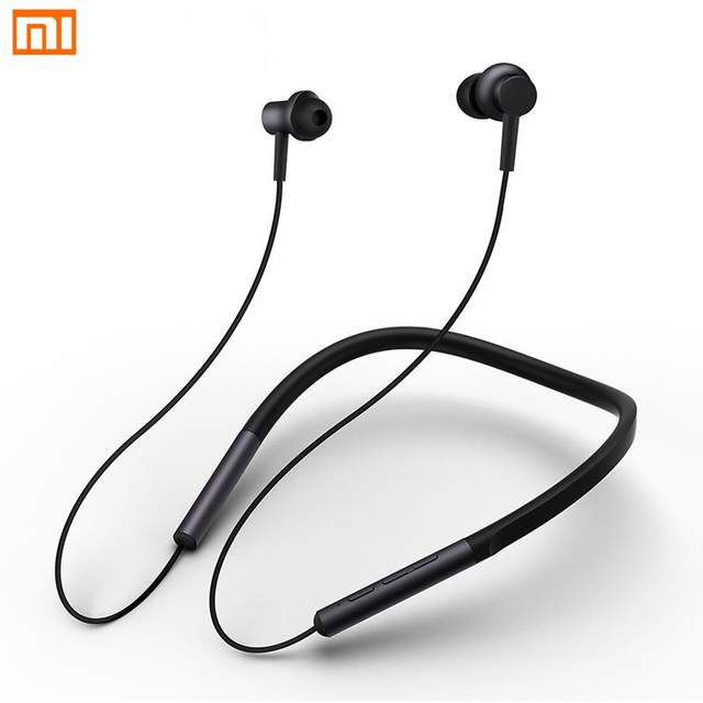 ceaba3de9e2 Xiaomi Mi Bluetooth Neckband Earphones Collar Earphones Wireless Hybrid  Dual Driver Apt-x with Mic for Xiaomi Redmi 5 plus 4X A1