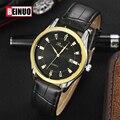 Homens Relógios de Quartzo Homens Marca De Luxo de Couro Senhores Mens Man Quartz Watch Relógio de Pulso Militar Relógios Relogio masculino