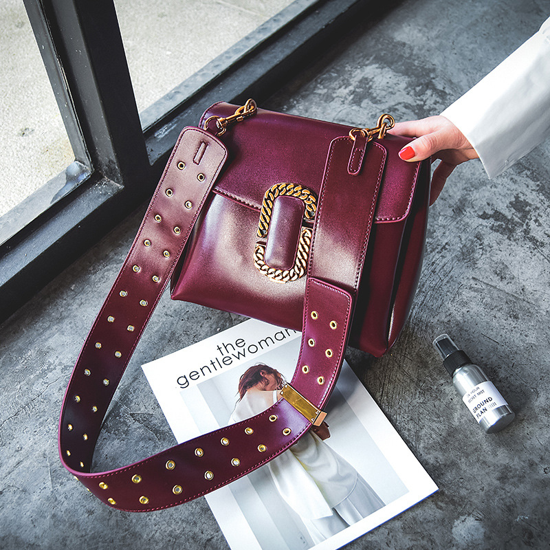 Hot new style design fashion Punk style  good quality strap shoulder bag ladies messenger bag 677 3