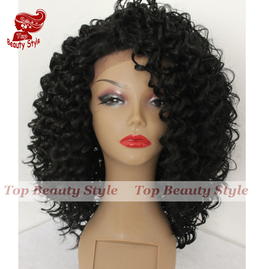 curly style wig - lace front
