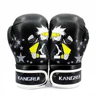Kids Kick Boxing Gloves PU Leather KANGRUI Brand 6 OZ Crypto Series Training And Entertainment Punching
