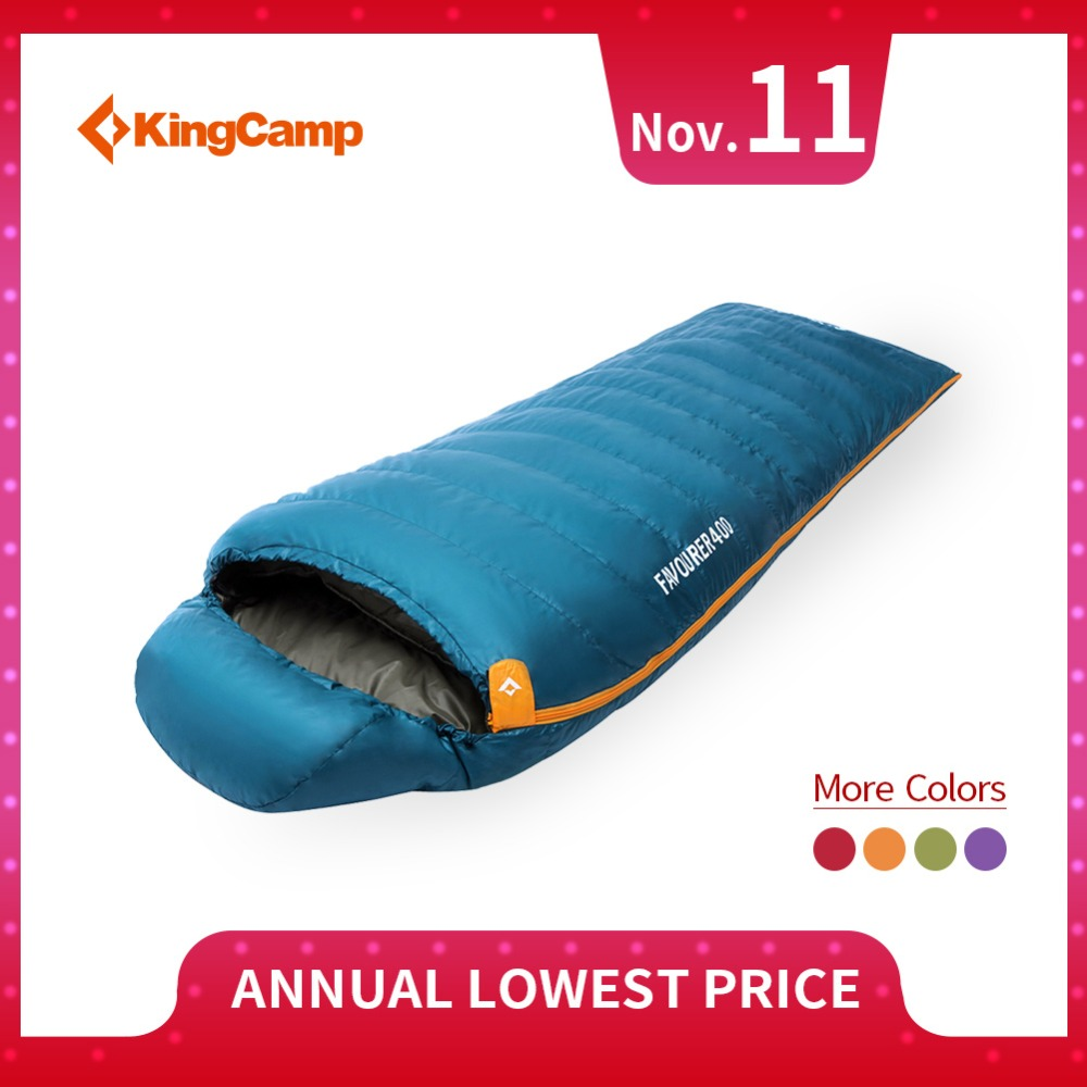 KingCamp Duck Down Mummy Winter Sleeping Bag Ultralight Thick Warm Portable Sleeping Bags for Camping Outdoor Cold Temperature kingcamp 220x75cm camping sleeping bag polyester winter warm outdoor sleeping bags with compression bag