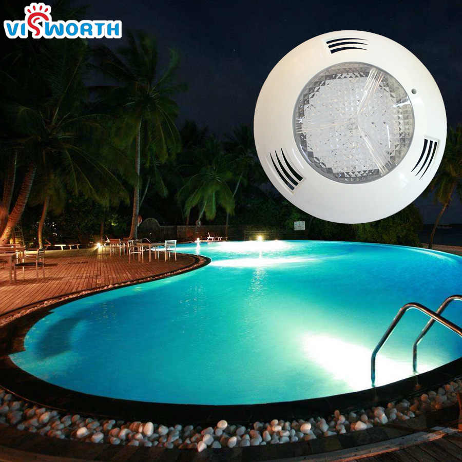 24W 36W Underwater Lights AC/DC 12V Swimming Pool LED Lamp IP68 Waterproof  Led Fountain Lighting RGB White Outdoor Light
