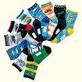 10 par/lote 4-12 años los niños de dibujos animados calcetines 100% algodón niños calcetines de alta calidad