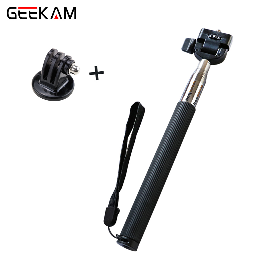 Portable Waterproof Monopod Telescoping Extendable Pole Handheld Action Camera Mount Selfie Stick for GoPro GEEKAM Action Camera
