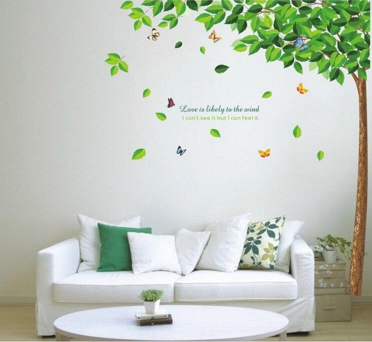2015 vinilos paredes ay886 fresca verde dormitorio for Decoracion hogar verde