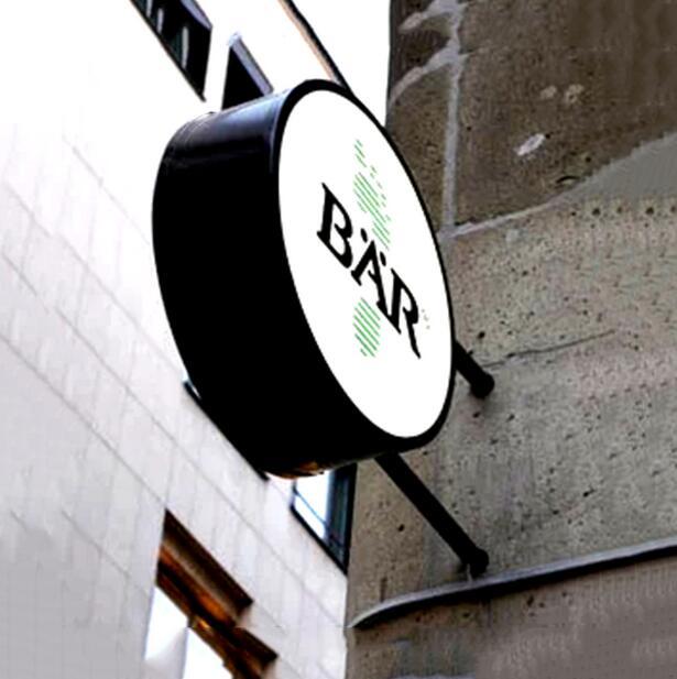 Werbung Lichter box angepasst oblong LED lampe haus im freien billboard individuelles logo name mark AD licht box Poster Rahmen-in Rahmen aus Heim und Garten bei  Gruppe 1