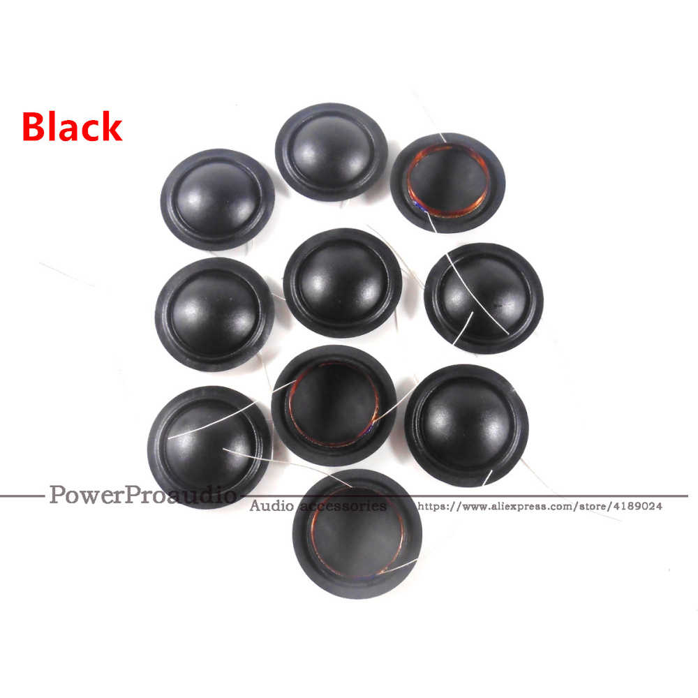 10 Pcs 19.4 Mm 20.4 Mm 25.5 Mm 28 Mm Tweeter Voice Coil 8ohm Black Silk Dome