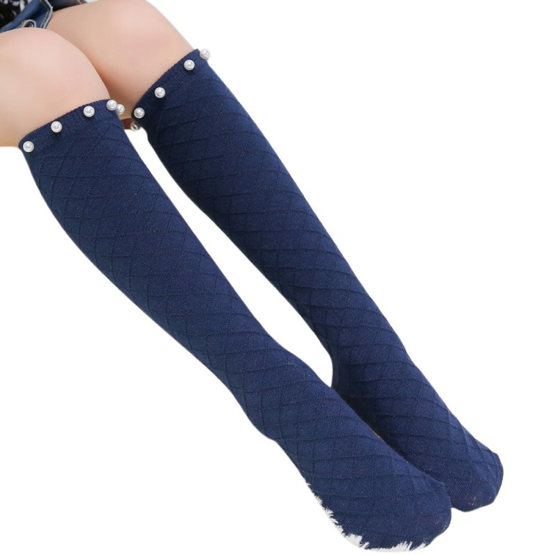 Girl Cotton Middle Tube Socks Grated Pearl Mesh Knee High Socks 2017 Hot Sale Baby Children Solid Color Socks Age 3-12
