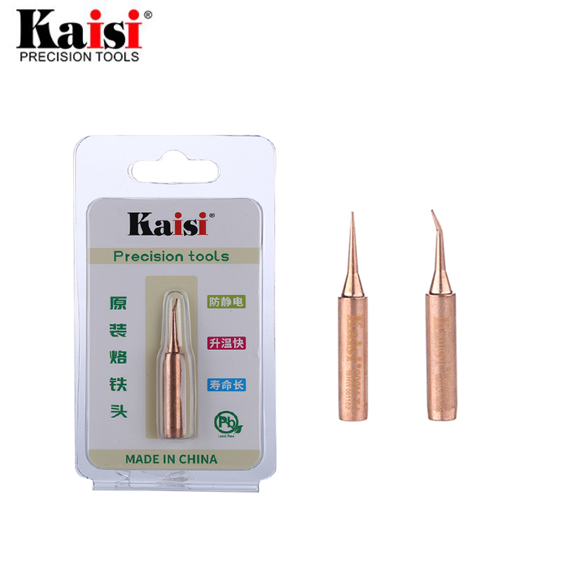 Kaisi Oxygen-free Pure Copper Soldering Iron Tip Welding Sting 900M-T-I 900M-T-IS Iron Tips For BGA Solder Station Tools