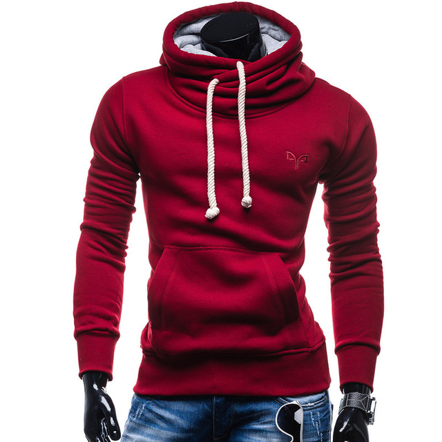 New Turtleneck Hoodies Men Hooded Sweatshirts 2