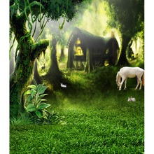 Fancy forest house background story telling photography backdrops for photo studio photography background camera fotografica