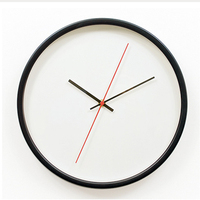 Hot Sale Absolutely Silent Bedroom Decor Wall Clock Brief Style Home Decoration Wall Clock 12 Inches