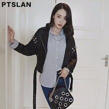 Ptslan Fashion Leather Jacket Women Classic Short Female Leather Jacket Locomotive Style Women s Sheepskin Coat