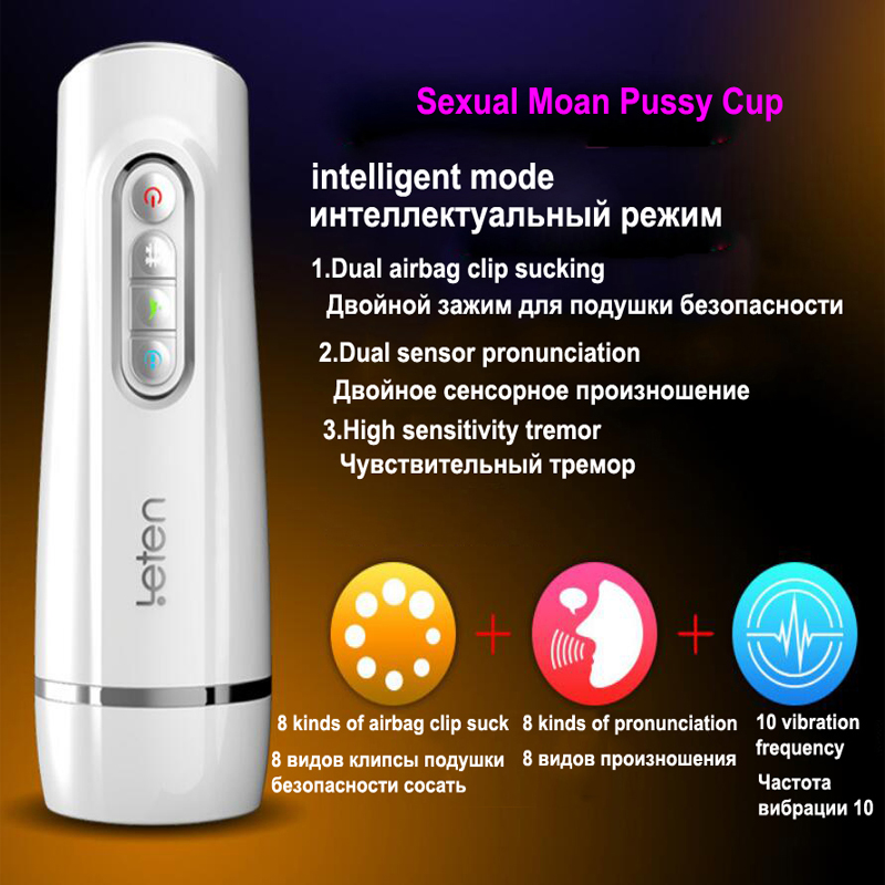 Leten Male Masturbator for man 10 Frequency Vibration 8 Folder Suction With Voice Smart Vibration Masturbation Sex Toys for MenLeten Male Masturbator for man 10 Frequency Vibration 8 Folder Suction With Voice Smart Vibration Masturbation Sex Toys for Men