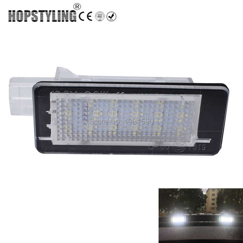 2pcs No Error <font><b>LED</b></font> rear number plate light For Renaul <font><b>Captur</b></font> Clio Fluence Laguna Latitude Modus ZOE Scenic car styling accessory image