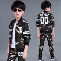 Children's clothing male child set spring and autumn clothing 2017military camouflage sports long-sleeve twinset kids boys