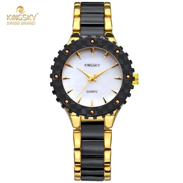 14a6b1d5d768 Top Brand Luxury Watches Ladies Black Gold Imitation Ceramic Quartz Watch  Fashion Ladies Dress Wrist Watch Lady Wristwatch