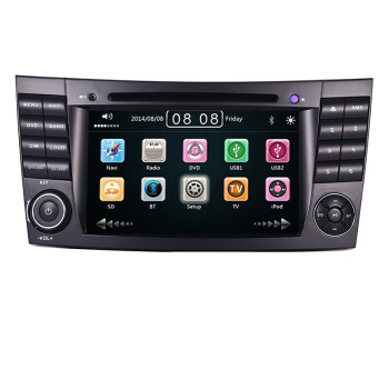 7 Touch Screen Car DVD player for Mercedes Benz E-Class E200 E220 E300 W211 E320 with GPS Bluetooth Radio RDS USB SD Canbus Map image