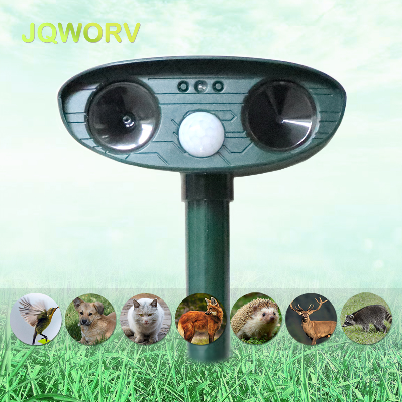 Solar Powered Motion Activated Animal Repeller Outdoor Ultrasonic Motion sensor Rodent Pest control For garden Mice/Dog/fox|Repellents| |  - title=