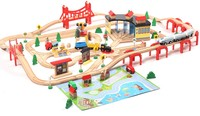 Thomas And Friends 142PCS Thomas Electric Train Track Set Wooden Railway Track EDWONE Fit Thomas And