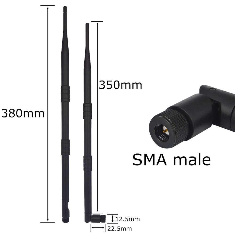 5 Piece/lot 2.4GHz 9dBi WiFi 2.4g Antenna Aerial SMA Male Wireless Router 43cm FOR PCI CARD USB MODEM USB Wireless Router