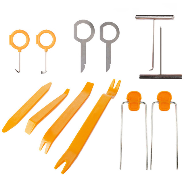 US $7 6 33% OFF|Universal 12pcs/set Audio Stereo Repair Tool Kit Plastic  Car Door Dash Roof Clip Panel Trim Removal Pry Tools-in Hand Tool Sets from