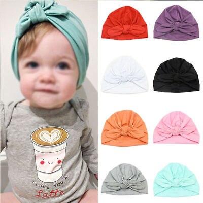 Newborn Infant Toddler Girls Baby Bow Beanie Hat Children Turban Hospital  Cap a4925b8eeec