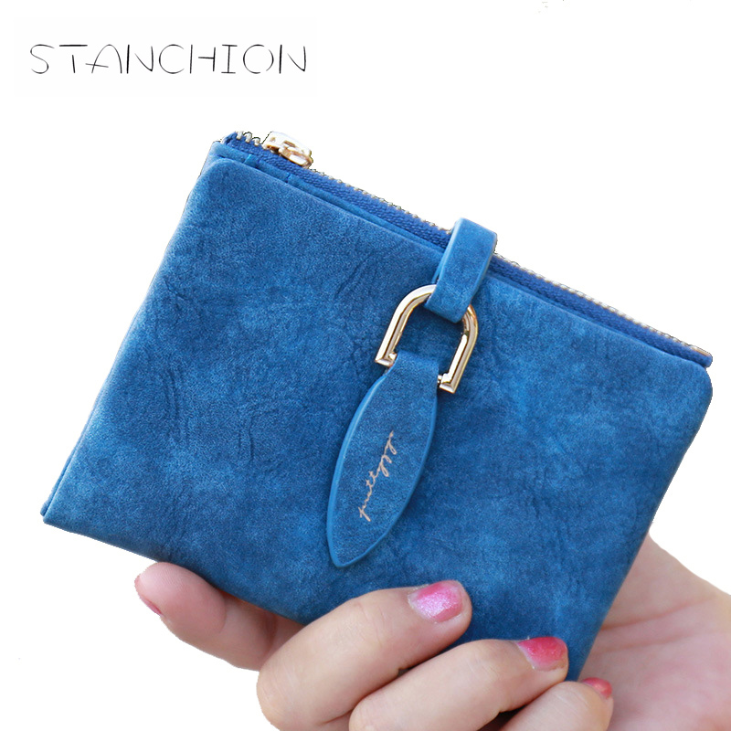 Women Short Wallet Faux Suede Leather Zipper & Hasp Coin Bag Card Holder Lady Day Clutches Girl Purses Pockets casual weaving design card holder handbag hasp wallet for women