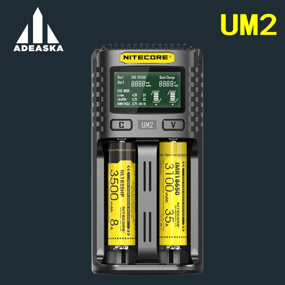 1 pc best price NITECOR UM2 UM4 LCD smart battery charger Li-ion battery charger / IMR / INR / ICR / LiFePO4 18650, 14500 2661 pc best price NITECOR UM2 UM4 LCD smart battery charger Li-ion battery charger / IMR / INR / ICR / LiFePO4 18650, 14500 266