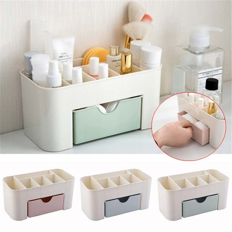 1X Women Makeup Case Storage Organizer Cosmetic Holder Container Box With Drawer