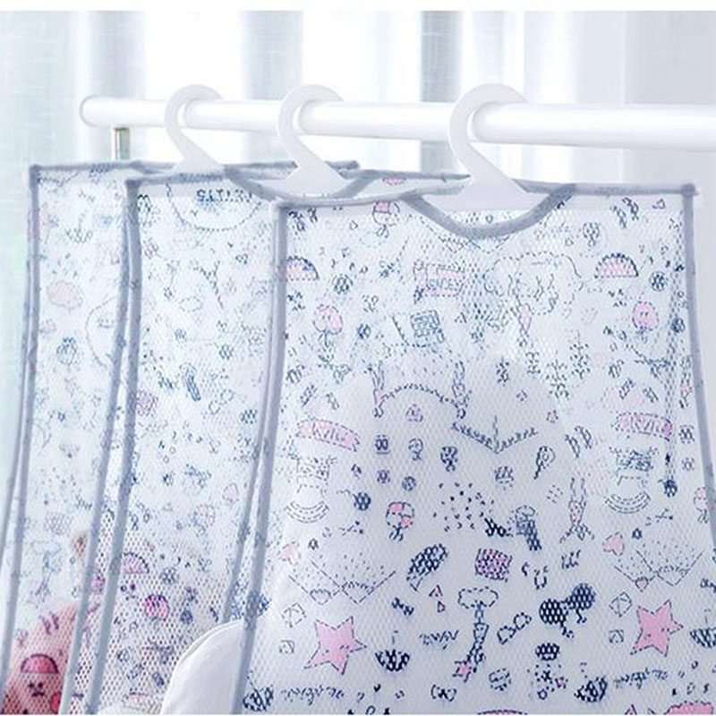 Mesh Hanging Clothes Toy Organizer Laundry Hook Underwear Kitchen Bathroom Indoor Outdoor Dry Practical Pouch Multi-function