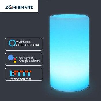 Coloré enfants lampe lumière ambiante RGB téléphone App contrôle Alexa Google maison voix cadeau de noël