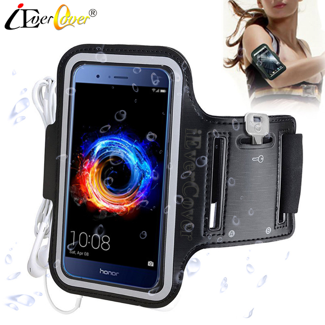 check out 55c59 52567 US $3.03 24% OFF|Sport Arm Band Jogging Case for Huawei Honor 8 Pro , V9 /  Enjoy 7 Plus / Nova Lite / P10 Lite / Mate 9 Waterproof PU Leather Bag-in  ...