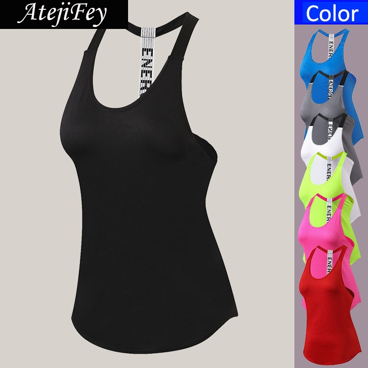 New Breathable Backless Yoga Vest Sleeveless Women Running Tank Top Sports Clothes Yoga Fitness Quick Dry Vest Tshirt green backless design halter sleeveless casual vest
