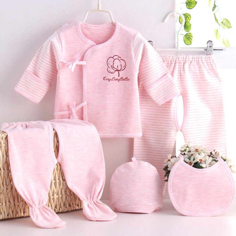 (5pcs/set)Newborn Baby 0-3M Clothing Set Baby Boy/Girl Clothes 100% Cotton Cartoon Underwear,childrens clothing Free Shipping