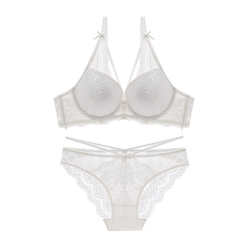 Image 2 - Varsbaby new sexy push up lace bras underwire underwear bow breathable panties for women-in Bra & Brief Sets from Underwear & Sleepwears