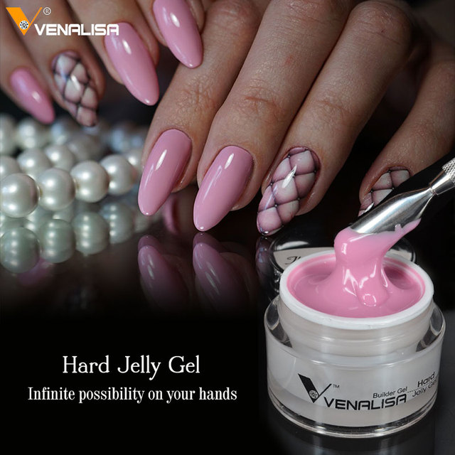 Venalisa 50ml Hardest Gel French Tips 4d Camouflage Sculpture Canni Nail Art Manicure Builder