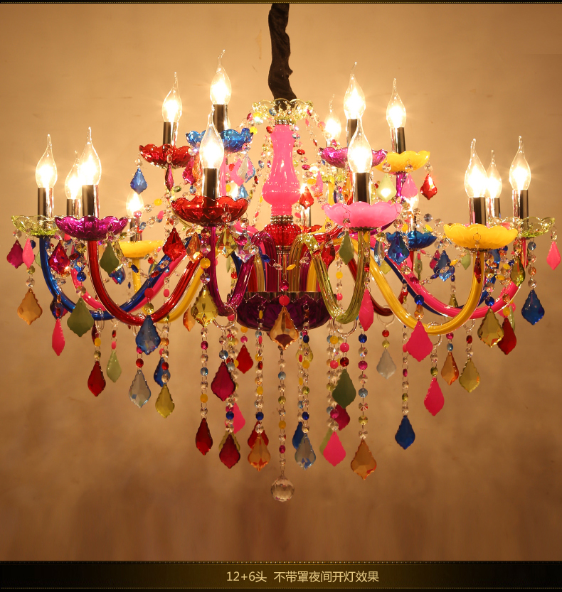 Longree Holiday Party Decor Colorful Glass Table Candle Chandelier Crystal  Flat Chandelier Light Chandeliers Ceiling In Chandeliers From Lights U0026  Lighting ...