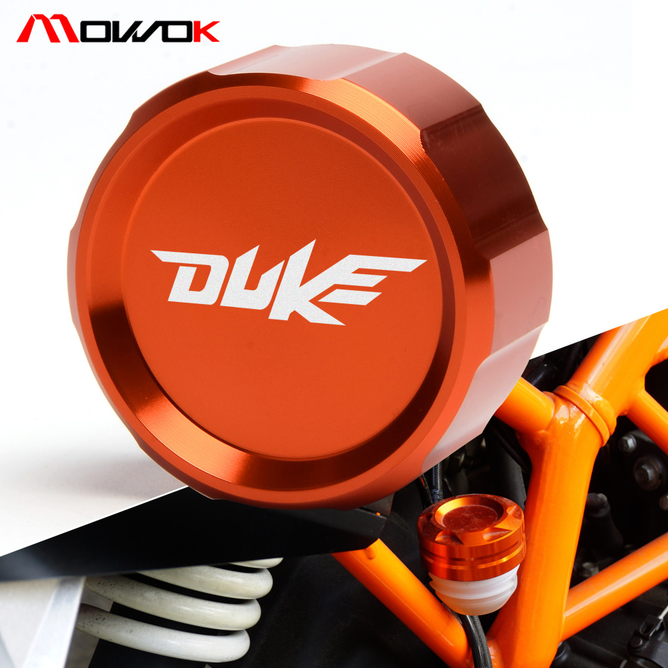 Rear Brake Fluid Reservoir Cover Cap For KTM duke DUKE 390 125/200 250 2013 2014 2015 2016 2017 2018 with logo image