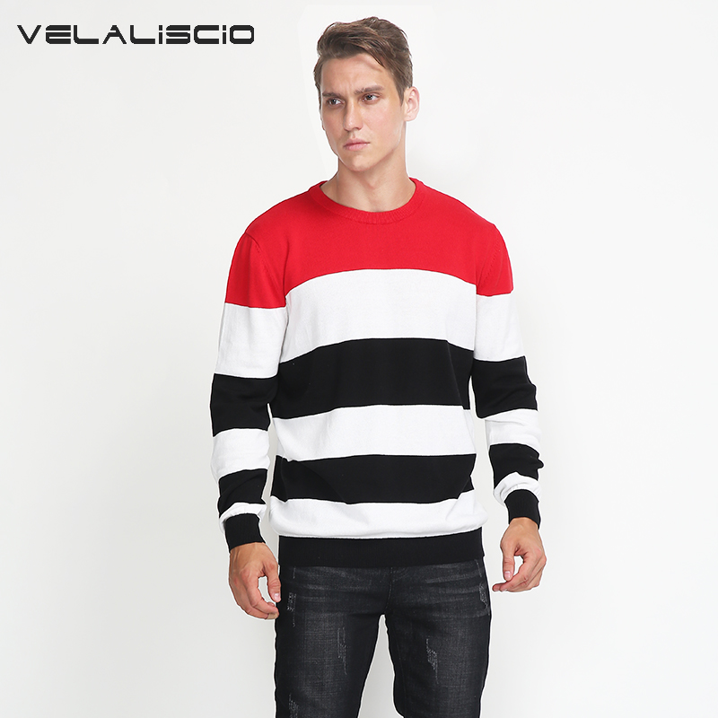 VELALISCIO 2017 New Sweater Men Casual Sweaters Mens O-Neck Knit Warm Pullover Men Plus Size 3XL Male Sweate