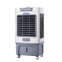 100 F Electric Air Cooler Refrigeration Fan Water Cooling Floor Air Conditioning Fans 35L Tank 150W Romote Control/ Mechanical
