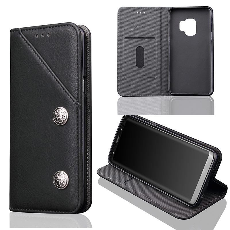 Buy Vintage Phone Case For Samsung Galaxy S9 Plus S9+ Luxury Retro Leather Full Cover Protective For Samsung Note 8 S8 S9 Plus Shell for only 10 USD