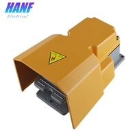 1pcs 10A 250VAC 1NO1NC Industrial Nonslip Foot Pedal Switch Aluminum Alloy Waterproof Foot Switch With Protection