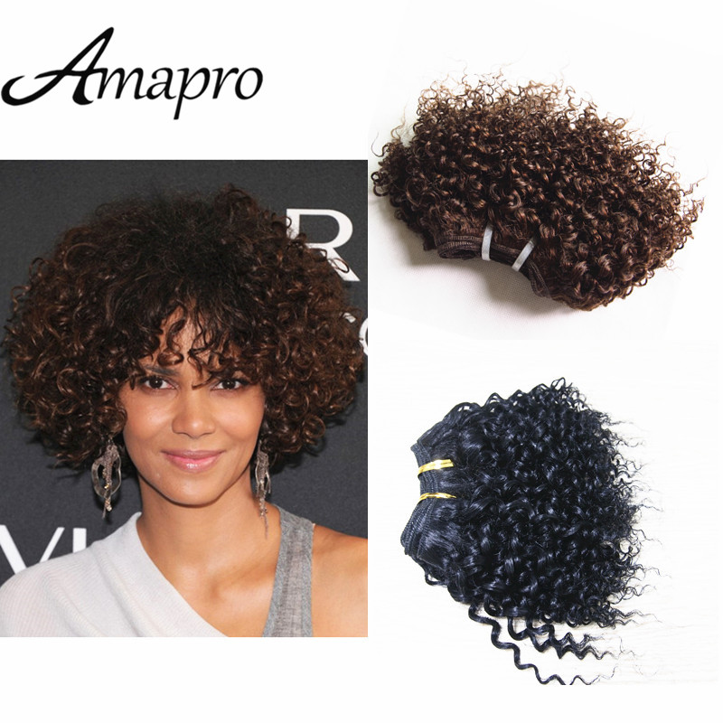 Amapro Hair Products Brazilian Virgin Curly Short